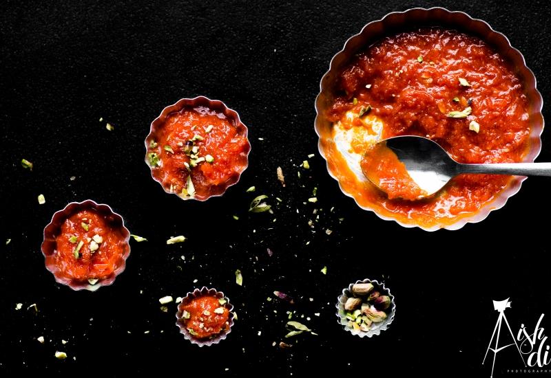 Food Photography Indian Dessert gajar ka halwa