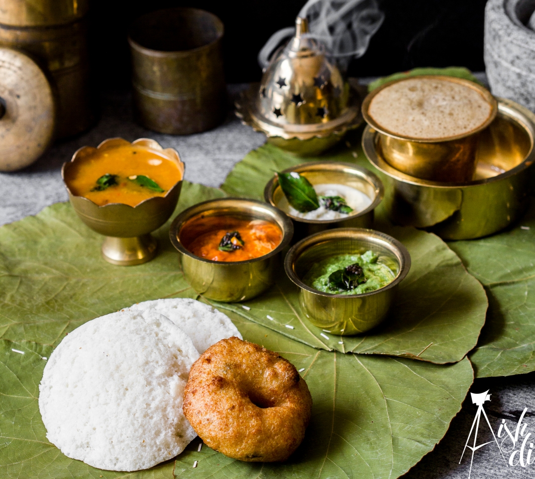 Food Photography idly Vada South India